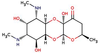 Công thức hóa học của thuốc kháng sinh spectinomycin